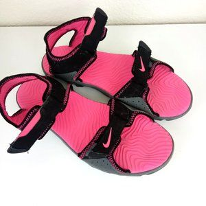 Nike | Santiam 5 Black/Pink Water Sandals - 7Y